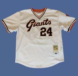 Willie Mays 1951 Mitchell & Ness San Francisco Giants Baseball Jersey Size 48