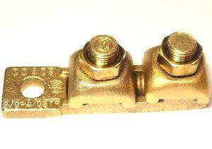 BURNDY 3/0 - 4/0 AWG Copper-Alloy Straight Mechanical Terminal Lug - busbar pad