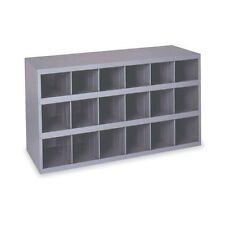 Metal 18 Hole Storage Bolt Bin Cabinet Compartment Nuts Bolts Fasteners Screws