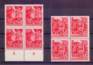 Deutsches Reich 1945 - MiNr 909/910 im 4erBlock postfrisch Michel 320,00 € (576)