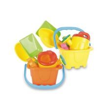 "Kids Sand Castle 6"" Bucket and Spade 13 pce set Beach Garden & Sandpit Toys New"