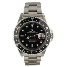 Rolex GMT Master Steel Black Automatic 40mm Mens Watch 16700 Serial W Circa 1995