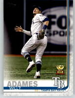 (15) 2019 Topps Series 2 15-Card Base Lot WILLY ADAMES Rays Rookie Cup #562