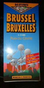 B&B City Streets Map, BRUSSELS BRUXELLES   1:12000, laminated