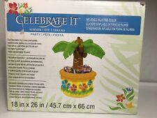 Celebrate it Inflatable Palm Tree Cooler Great for Party Holds 24 Cans 18x26 Nib