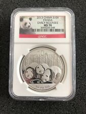 New 2013 Chinese Silver Panda 1oz Early Releases NGC MS70 - Low Number