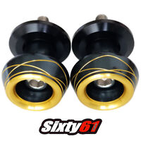 Hayabusa Black Gold Swingarm Spools Suzuki 1999-2016 2017 2018 2019 2020 Sliders