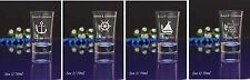 168 Personalised Etched Engraved 60ml conical Shot Glass Wedding Birthday Gift