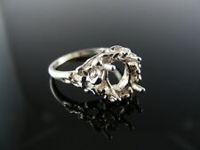 2216  RING SETTING STERLING SILVER, SIZE 5.75, 9X7 MM OVAL STONE