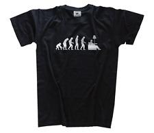 SILBER Edition Couch Potatoe TV Fernsehen Fernseher Evolution  T-Shirt S-XXXL
