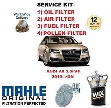 Para Audi A8 4.2 Saloon V8 FSI 2010-- > en Aceite Aire Filtro Polen Service Kit