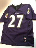 OFFICIAL NFL BALTIMORE RAVENS  #27 RICE  YOUTH JERSEY SIZE  MEDIUM 10/12