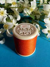 449B / Espléndida Bobina Hilo Alsa para Bordado N º 40 Naranja Luz Brillante