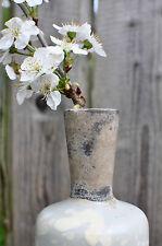 Vase Keramik auf alt gemacht shabby style 23 cm in blau grau von PTMD
