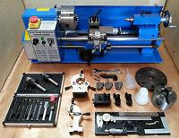 cj18a Mini-Drehmaschine Blau Packung 3 - BRANDNEU 7x14 Maschine mit Dro & 10.2cm