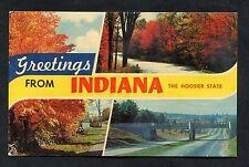 Multiviews of Indiana State, USA. Postmark 1966.
