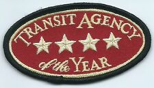 Transit Agency of the Year 4 stars patch 2-7/8 X 3-1/2