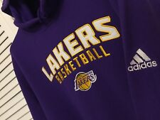 ADIDAS NBA LOS ANGELES LAKERS CLASSIC HOODIE SWEATSHIRT JACKET LEBRON ADULT M