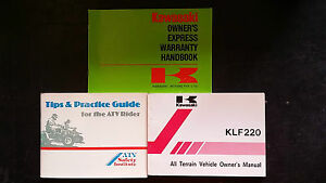Kawasaki BAYOU KLF220-A3 KLF 220 A3 Owners Manual 1990