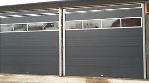 Lagertor: neues Sektionaltor 4 x 4 m, 1 x Lichtsektion, von Wintec-Tore, Rolltor