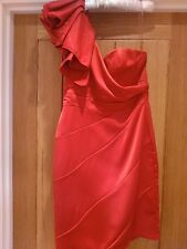 Womans dresses Lipsy Size 10 Red Satin off the shoulder party, cocktail