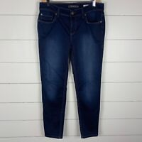 Level 99 Anthropologie Womens Blue Denim Dark Wash Size 26 Tomboy Skinny Jeans