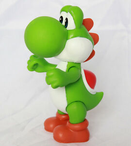 """Super Mario Brothers Bros 5"""" Action Figure Yoshi Cake Topper Kids Toy USA SELLER"""