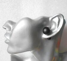Black Double-Sided Ball Stud Earrings 16mm/8mm