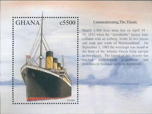Ghana RMS Titantic stamp Mini block  MNH