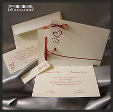 PARTECIPAZIONI NOZZE inviti sposi BUONANNO C.0010 Matrimonio