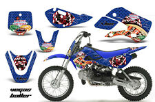 Decal Graphic Kit Wrap For Kawasaki KLX 110 2002-2009 KX 65 2002-2018 VEGAS BLUE