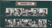 GB 2014 MNH Remarkable Lives 10v Set Presentation Pack 496 Alec Guinness