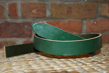 """GREEN LEATHER BELT  BLANK  4.mm thick 1 """" x 46"""""""
