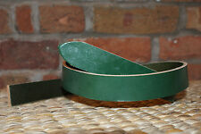 """GREEN LEATHER BELT  BLANK  4.mm thick 1 1/2"""" x 58"""""""
