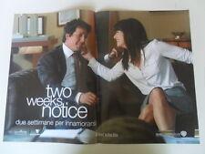 "LOCANDINA FILM ""TWO WEEKS NOTICE - DUE SETTIMANE PER INNAMORARSI""  (D)"