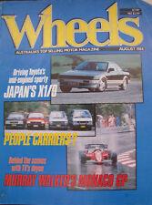 WHEELS Aug 84 MR2 205T16 E 30 Alpina C1 Alfa 33