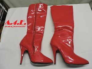 Red Patent Jante Thigh High boot  Unfinished  Size 11 Womens Size 9.5 Mens
