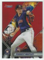 Forrest Whitley 2019 Bowman's Best RED Refractor RC /10 #TP-20 Astros
