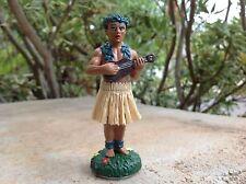 "4"" Tan Skirt Car Dashboard Hula Doll Man Tribal Tattoo Hawaii Hawaiian Dancer"
