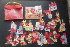NOS 50 Vintage Valentines Day Cards HAPPY LITTLE MAILMAN DIE CUT VALENTINES USA