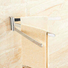 Bathroom Towel Rack Swivel Rail Bars Bath Clothes Holder Hanger Shelf Wall Mount