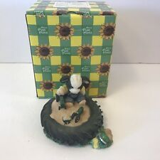 JOHN DEERE Marys Moos Never Be Too Tired For Some Fun Figurine Boy Cow Tire Toys