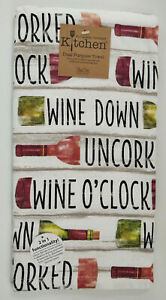 Kitchen Dish Towel Wine O'Clock Grape Uncorked Fruit Home Quality Decor Gift