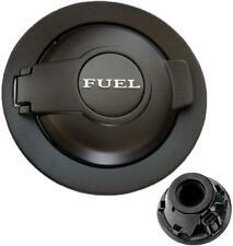 1X Fuel Filler Door Cover Gas Cap Matte Black+Silver For Dodge Challenger 08-19