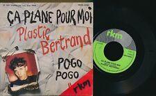 """PLASTIC BERTRAND 45 TOURS 7"""" BELGIQUE BELGIAN PUNK CA PLANE POUR MOI"""