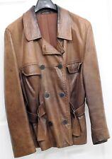 Womens designer leather jacket, brown | PENTIK, Arja Lehtimaki C 40 | Finland