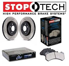 Lancer EVO X 08-15 Set of Front StopTech Slotted Brake Rotors and Street Pads