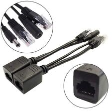 HighQualitty Passive Power over Ethernet PoE Adapter Injector+Splitter cable Kit