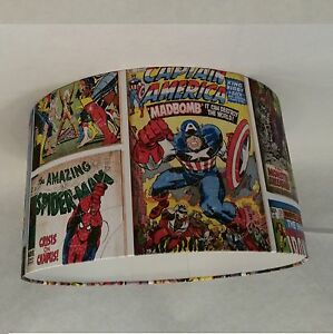 Lampshade Handmade in UK - Marvel Action Heroes Wallpaper