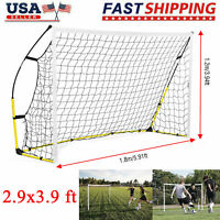 5.9 x 3.9 ft Portable Soccer Net Quick Set Up Football Goal Sports Training New